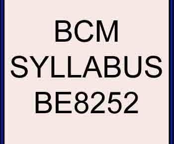 BE8252 bcm syllabus regulation 2017