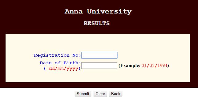 Anna University Results 2017 coe1.annauniv.edu Nov dec 2017